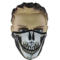 L-FENG-UK Skull Half Face Mask Breathable Face Shield Guards For Snowboard Ski Cycling Motorcycle (Size-A)