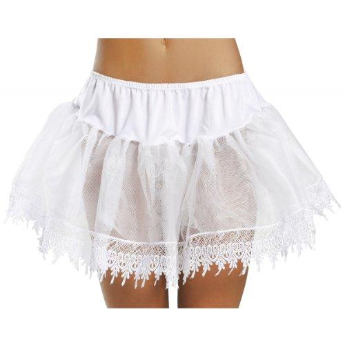 Teardrop Adult Petticoat - Trimmed Teardrop Petticoat Adult Accessory White - One Size