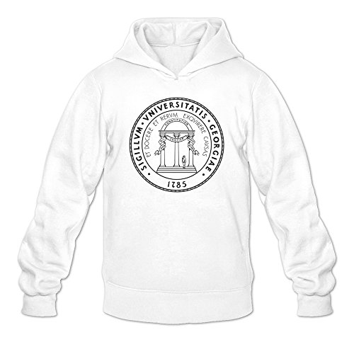 - Men Uga University Of Georgia Classic Logo Sweatshirts White