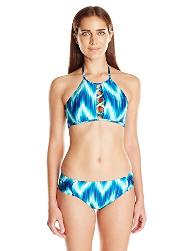 La Blanca Women's New Wave Side Shirred Hipster Bikini Bottom, Mid, 10