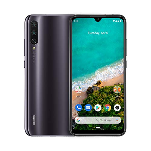 Xiaomi Mi A3 Android One AMOLED de 6 088 Cámara frontal de 32 MP trasera de 48 8 2 MP 4030 mAh Jack de 3 5 mm Qualcomm Snapdragon 665 2 0 GHz 4 64 GB Color Grisáceo Versión española