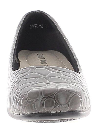 Chaussures Gris Talon Bloc 4 Cm Confortable Chaussmoi Femme De qq76pAw