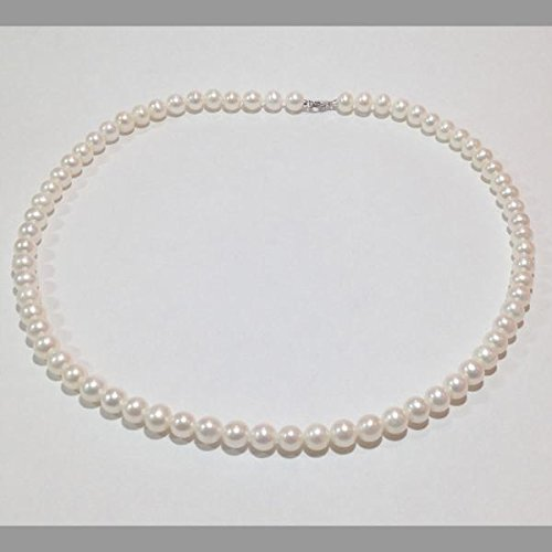 prezzo di fabbrica 613ae 36a7b MILUNA COLLANA DI PERLE, ORO BIANCO 18KT: Amazon.it: Gioielli