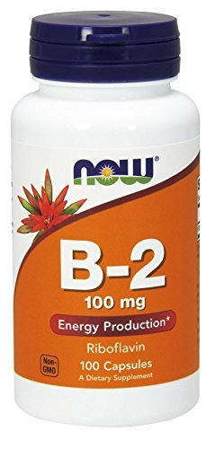 NOW Foods Vitamin B-2 (riboflavin), 100 Capsules / 100mg (Pack of 2) For Sale