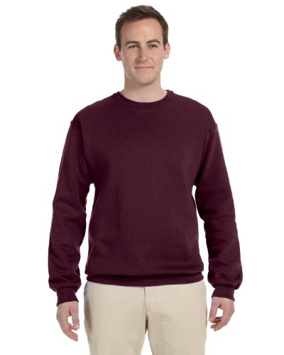 Mens Soft Crewneck Sweatshirt By Jerzees  Regular And Big   Tall Sizes   4X Large  Maroon