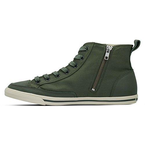 Mens Burnetie Oliva Plaid Solido Di Alta Sneaker Top Epoca