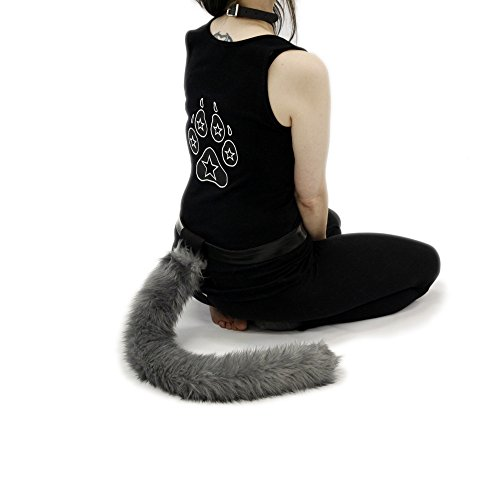 Pawstar Furry Kitty Cat Costume Tail - (Furry Cat Tail)