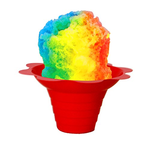- Shaved Ice/Sno Cone Flower Cups, 4 ounce (small), Case of 1000, Mixed Colors Per Case