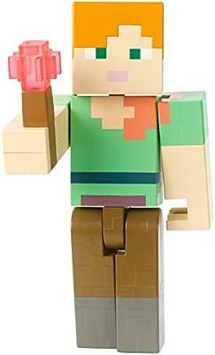Minecraft Alex With Redstone Torch Figure