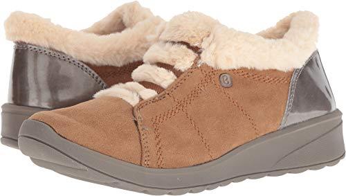 BZees Women's Golden Sneaker, Toffee Microfiber/Beige Faux Fur, 8.5 M US from BZees