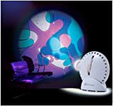 Mathmos Space Projector in White with Lava Lamp Effect Wheel - Violet / Blu