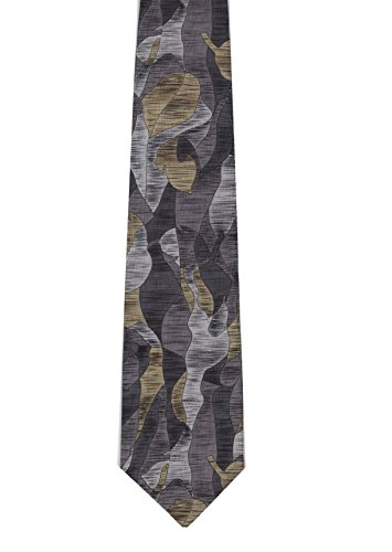 Stonehenge Limited Men's Print Neck Tie - Abstract (Grey-Gold)