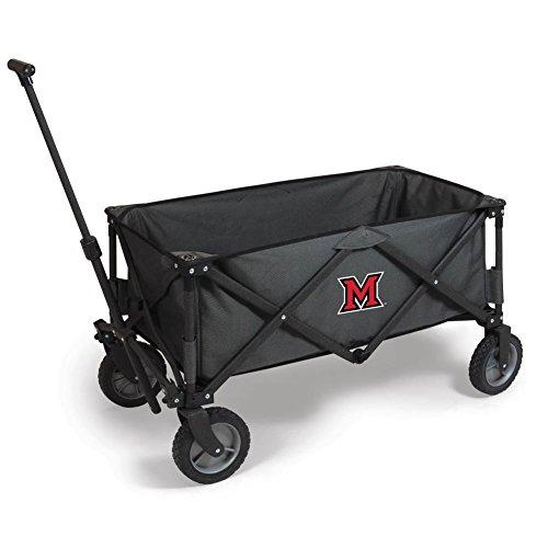 NCAA Miami (Ohio) Redhawks Adventure Digital Print Wagon, One Size, Dark Grey/Black by PICNIC TIME