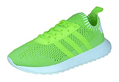 adidas Originals FLB PK Flashback Primeknit Womens Sneakers/Shoes-Yellow-5