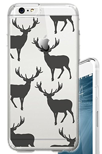 Wilderness Deer - iPhone 6S PLUS Case 5.5 inch Antlers Deer Wild Holidays Wilderness Clear Translucent Transparent Unique Design Pattern Cover For iPhone 6S PLUS also fits iPhone 6 PLUS