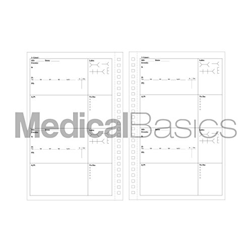Progress & H&P + 4 Day SOAP Notebook - Progress Note + Medical History and Physical notebook, 50 templates with perforations by Medical Basics (Image #3)