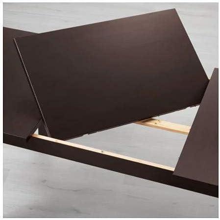 Stornas Ikea Tavolo Allungabile In Legno Massiccio Allungabile 147 X 204 X 95 Cm Colore Marrone Amazon It Casa E Cucina
