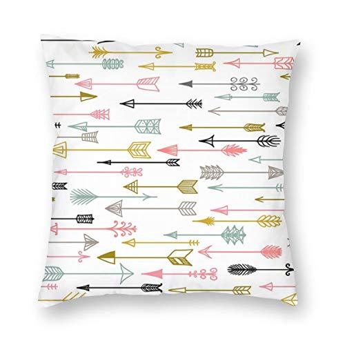 Undertale Annoying Dog Tribal Ethnic Arrows Decorative Square Throw Pillow Cases Soft Soild Pillow Slips for Sofa Bedroom Car