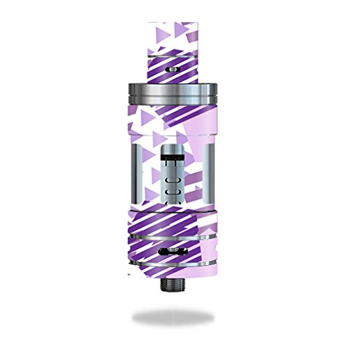 MightySkins Skin Compatible with Smok TFV4 Tank - Purple Pentagon | Protective, Durable, and Unique Vinyl Decal wrap Cover | Easy to Apply, Remove, and Change Styles | Made in The USA (Pentagon Tank)