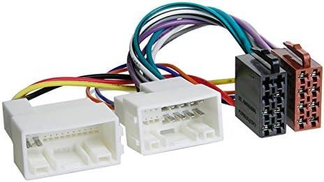 Hyundai i30/GD 12/Original Plug /& Play Quality 2-Din Car Radio Installation Set Includes Aerial Adaptor Radio Connection Cable and Radio Mounting Frame High Gloss Black