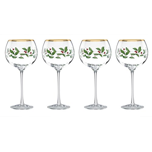 Lenox Holiday Balloon Glasses, Set of 4