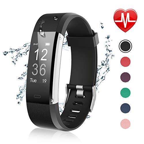 Letsfit Fitness Tracker with Heart Rate Monitor, IP67 Water Resistant Activity Tracker Watch, Smart Watch with Calorie Counter, Pedometer Watch for Kids Women and Men ()