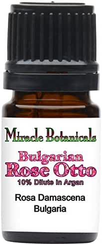 Miracle Botanicals Bulgarian Rose Otto 10% Dilute in Golden Argan Oil - 5ml and 10ml Sizes - Therapeutic Grade - 5ml