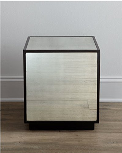 Dazzling Mirrored Cube Mirror Glass Table End Cocktail