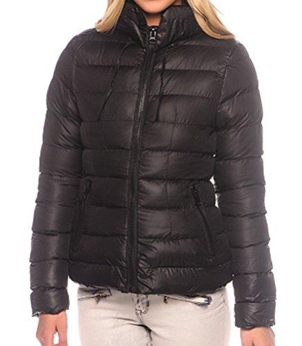 S 40 Noir Taille 38 En Duvet Noir Femme M Pour 36 Bleu Rose Xl Aspect 42 L Veste D'hiver Matelassée O6fqII