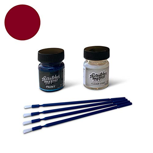 ScratchesHappen Exact-Match Touch Up Paint Kit Compatible with Land Rover Firenze Red (868/CAH/1AF) - Essential (Land Rover Firenze Red Touch Up Paint)