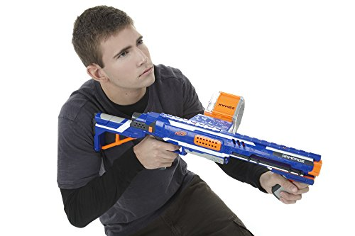 41kBzXvyCmL - Nerf Rampage N-Strike Elite Toy Blaster with 25 Dart Drum Slam Fire and 25 Official Elite Foam Darts For Kids, Teens, and Adults