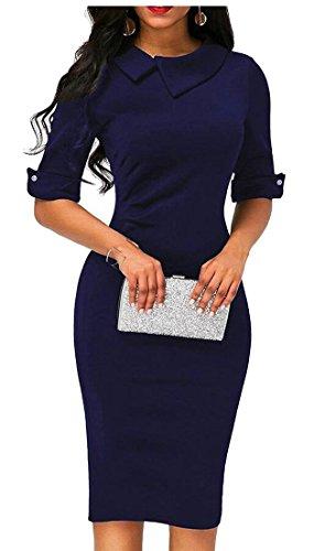 Jaycargogo Rétro Femmes Ci-dessous Carrière De Bureau Robe Slim Fit 1