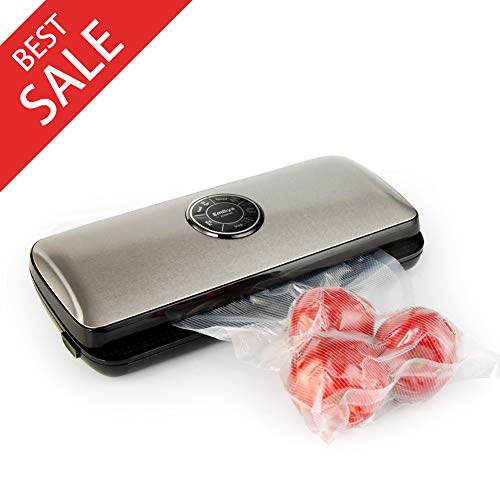 Nattork Vacuum Sealer Machine for Food Preservation with Starter Bags and Roll Starter Kit for Food Saver and Sous Vide