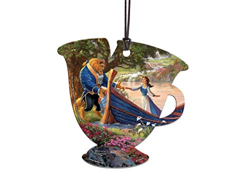(Trend Setters Disney - Beauty and The Beast II - Thomas Kinkade - Chip Teacup Shaped Hanging Acrylic Print)
