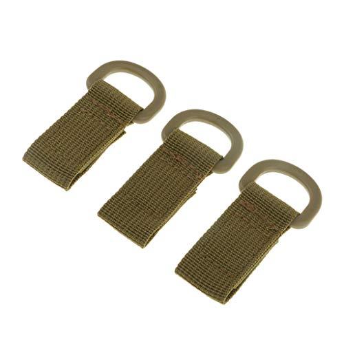 - NATFUR 3pcs Tactical Strength Molle Webbing Belt D Buckle Hanging Keychain Backpack Elegant Novelty Key-Chain for Women for Men for Gift Novelty | Color - Khaki