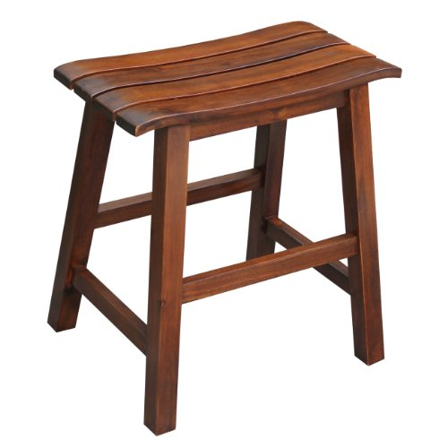 - International Concepts Slat Seat Stool, 18-Inch Seat Height, Espresso