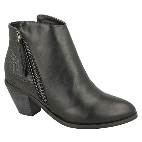 Spot On  F50450,  Damen Stiefeletten mit Warmfutter Grey Distressed