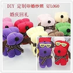 Wholesale towel cake towel creative Gift Packed fibers trumpet puppy dog ​​Snoopy Wedding Favor