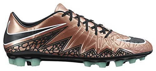 Nike Men's Hypervenom Phatal Ii Ag-r Football Boots, Multicoloured Marrón / Black / Verde / Blanco (Mtlc Rd Brnz/Blk-grn Glw-white)