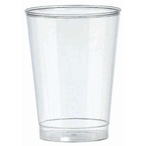 Party Essentials Hard Plastic 10-Ounce Party Cups/ Tumblers, 100-Count, Clear