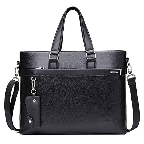 Seatour Men Leather Briefcase Laptop Handbag Messenger Business Bag 14'' Laptop Shoulder Handbag