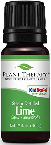 Plant Therapy Lime Steam Distilled Essential Oil 10 mL (1/3 oz) 100% Pure, Undiluted, Therapeutic Grade (Lime Therapy Lotion)