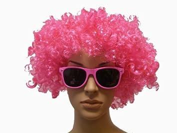 Hippie Peluca en rosado + Wayfarer Gafas De Sol en rosado Afro Carnaval