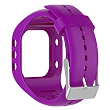 Efitty Replacement Soft Silicone Band Rubber Watch Band Strap For Polar A300 Fitness Watch (Purple)