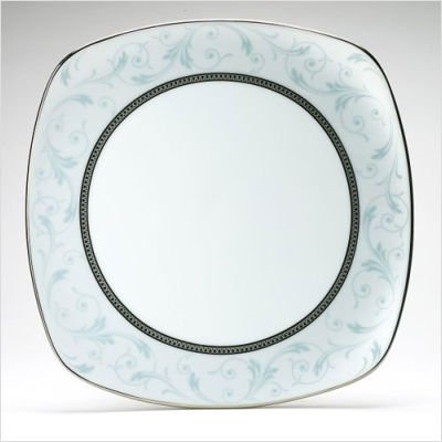 Noritake Regina Platinum 8-3/4-Inch Square Luncheon Plate (Platinum Square Luncheon Plate)