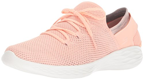 Baskets Femme Enfiler spirit You Skechers peach Multicolore xqwSEIn6C