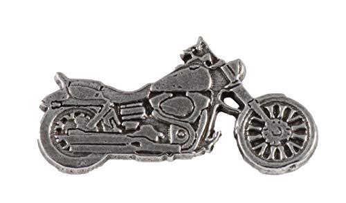 Bike Pin Brooch (Motorcycle Pewter Pin, A243)