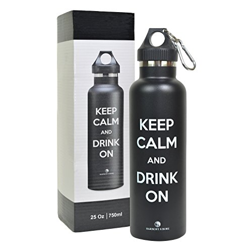 Best Sports Water Bottle - Insulated Stainless Steel, BPA Free, Sweat Free, Vacuum Sealed Double Wall Keeps Drinks Cold Or Hot For 12+ Hours (17 Oz)