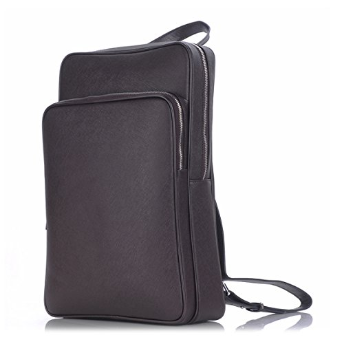 Leather Laptop Backpack ZLYC Slim Messenger Bag Fashion T...