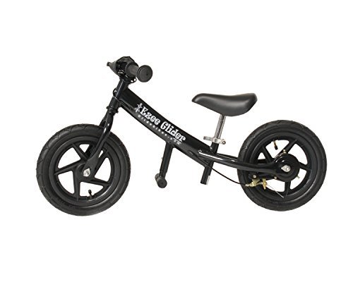 Glide Bikes EZee Glider Kids Balance Bike (Black 12-Inch)